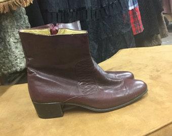 Visconti Burgandy Boots Disco Dancing