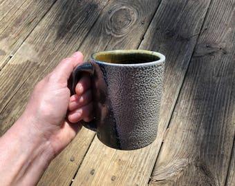 Salty Salt Fired Full Sized Handle Mug