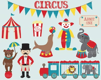 Circus clip art images,  circus clipart, circus vector, royalty free clip art-- Instant Download