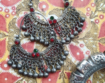 Vintage silver Afghani earrings