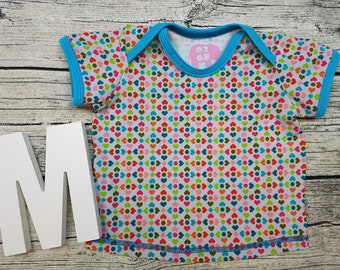 Tshirt Babyshirt Heart Retro Scandinavian Sweden Rainbow American Short sleeve gift baby wax shirt Shirt Girl