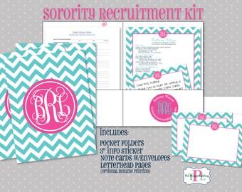 The Original Sorority Recruitment Recommendation Kit - Sorority Packet