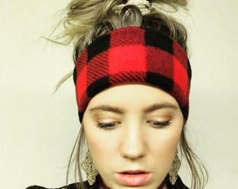 Buffalo Plaid Fleece Headband