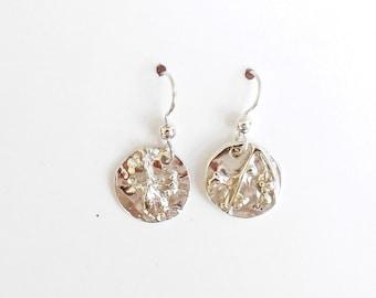 Sterling jasmine earrings,  jasmine earrings, jasmine jewelry, botanical earrings, botanical jewelry, sterling earrings,