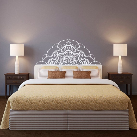 demi mandala mur autocollant t te de lit mur autocollant. Black Bedroom Furniture Sets. Home Design Ideas