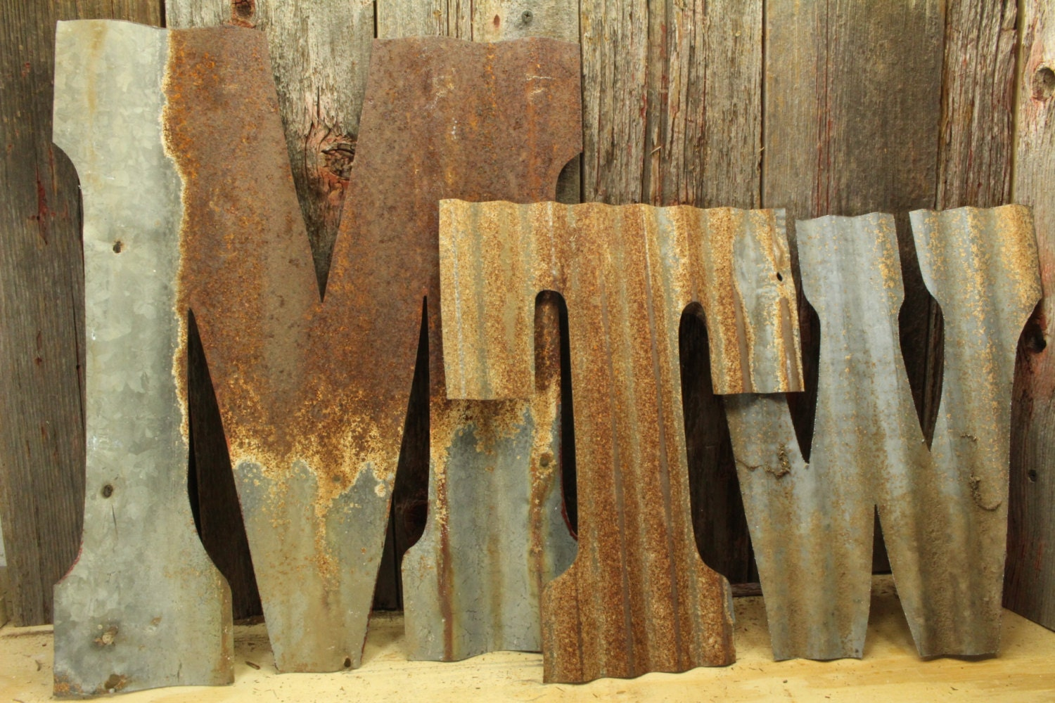 Large Metal Letters Home Decor Rusty Tin Letters Free Shipping Monogram Rustic Letter