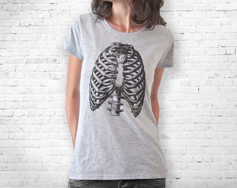 Thorax T-shirt-Anatomy T-shirt-men's thorax t-shirt-retro thorax women tank top-retro thorax men shirt-rib cage T-shirt-doctor gift-NPTS142