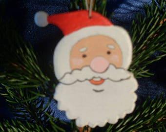Christmas decoration hanging Santa head