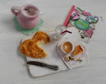 Tea time treats | 1/12 Dollhouse miniatures | Food | Art
