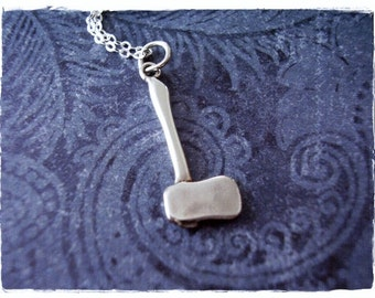 Silver Axe Necklace - Sterling Silver Axe Charm on a Delicate Sterling Silver Cable Chain or Charm Only