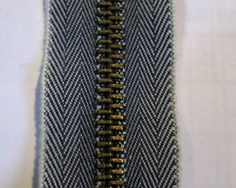 Zipper jeans 10 cm