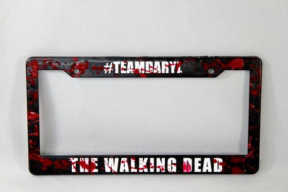 Walking Dead License Plate Frame Walking Dead Gift Walking