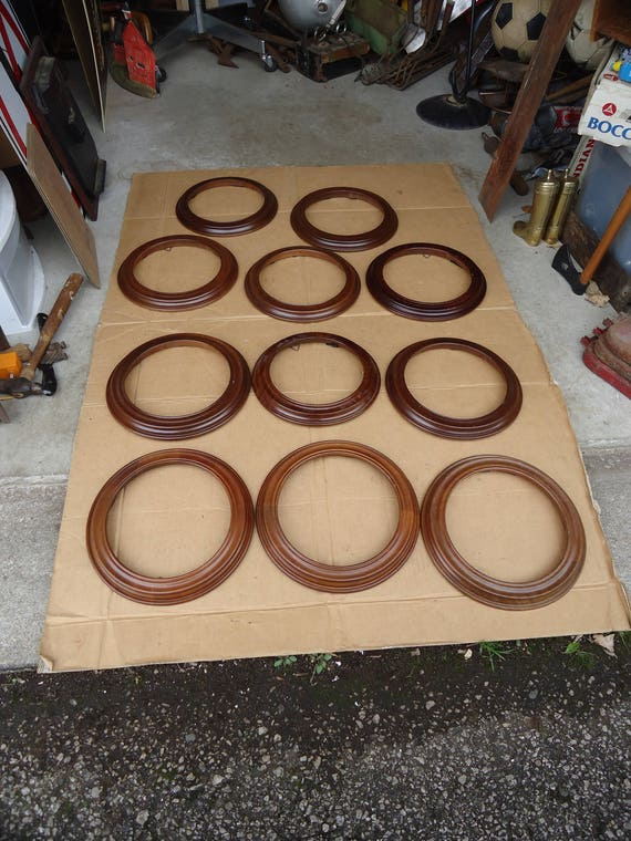 wooden round framesvintage Vanhygan \u0026 Symthe plate framepicture mirror frameslot of 11NEW OLD STOCK.unused from collectorsmecca on Etsy Studio & wooden round framesvintage Vanhygan \u0026 Symthe plate framepicture ...