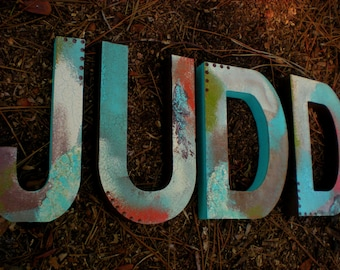 Name Wall Letters - Rustic Vintage Look - Boy Name Letters - Girl Name Letters - Nursery Wall Letters