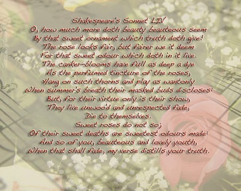 The Rose Shakespeare Sonnet LIV