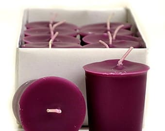 15 Hour Lilac Color Unscented Soy Votive Candles Pick A Pack