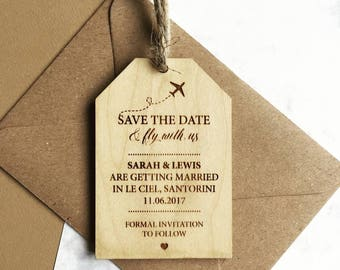 Luggage Tag Style Save The Date