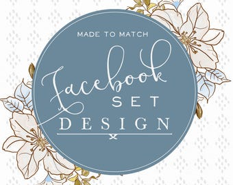 Facebook Set-Facebook Cover-Social Media Avatar-Made to match