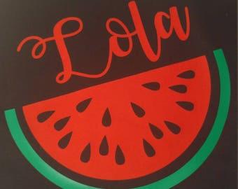Personalized watermelon tote bag