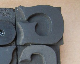 Antique Letterpress Wood Type Printers Block Letter G
