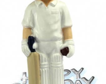 Resin Cricket Cake Topper Happy Birthday Sign Motto Decoration