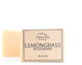 Lemongrass Soap, Rosemary Soap, Soap, Natural Soap, Scented Soap, Handmade Soap, Vegan Soap, Palm Free Soap, Fragranced Soap, All Skin Types