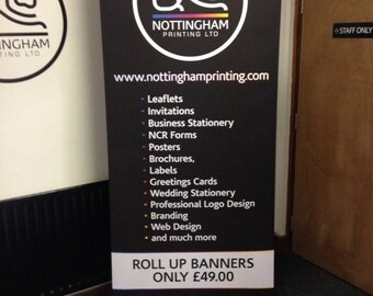 Roller Banner - 2000 x 850mm - Complete with free design and carry case