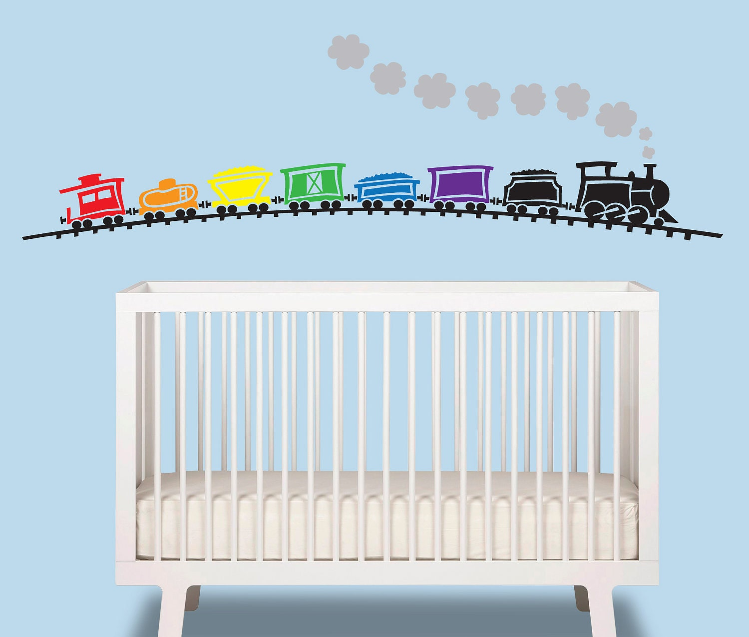 Train Baby Boy Wall Decal Train Over 6 Ft Wide Nursery
