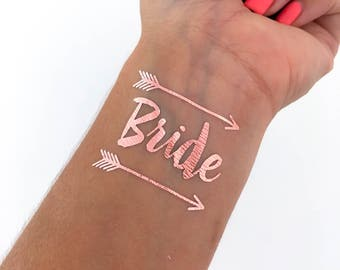 ROSE GOLD BOHO bachelorette tattoos, bachelorette party, bachelorette party favors, bride tribe tattoo, party tattoo, temporary tattoo, hen