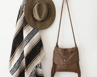 DESERT BREATH bag leather fringe Boho Rock Festival Bohemian Hippie Chic Vintage Native American Style