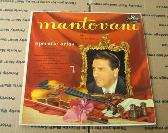 1960s classical music Mantovani and his orchestra operatic arias  33-1/3 rpm vinyl on London records # LL -1331
