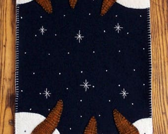 Snowman Applique Table Runner Pattern #CPD 104 - Snowmen Table Mat Pattern
