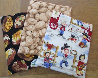 Microwave Potato Insulated Quilted Cotton Bag