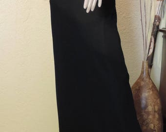 Vintage Black Evening, Party, New Years Eve Floor length dress, Laundry by Shelli Segal, size 6