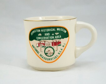 Vintage 1970s Boy Scout Mug, Johnston Historical Museum and Conservation Area, Tea Mug, Coffee Mug, Vintage Coffee, Vintage Tea, BSA