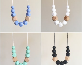 HARPER Necklace // Teething // Teething Necklace // Nursing Necklace // Silicone Beads // 100% Food Grade Silicone // Modern Jewellery