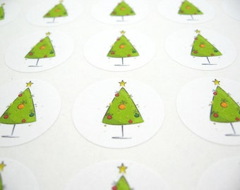 Christmas Stickers - Christmas Seals - Holiday Stickers, Set of 63