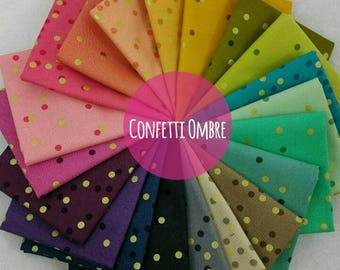Ombre Confetti Metallic Fat Quarter Bundle from Moda Fabric by V and Co. - 20 Fabrics