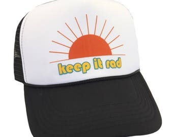 Keep it Rad Trucker Adult Hat by Chic Baby Rose More Colors and Styles