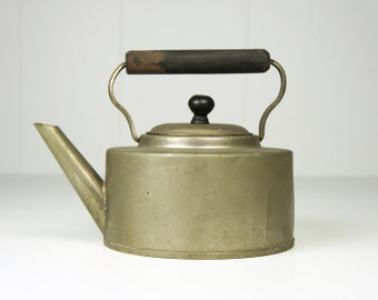 Small Vintage Early 1900's Metal Tea Kettle / Pot