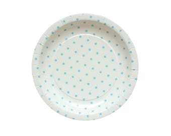 10 Blue Paper Plates Blue Party Plates Blue Baby Shower Plates Baby Boy Party Plates Blue Birthday Party Plates Dinner Paper Plates Favors