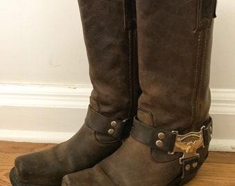 Vintage Harley Davidson Harness Boots 8.5 (women's)
