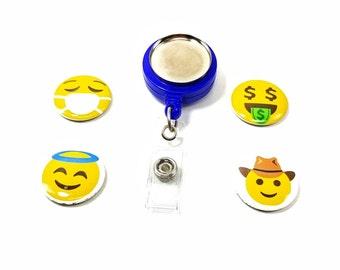 "Smiley Angel Emoji -Cowboy - Magnetic Jewelry - 1"""