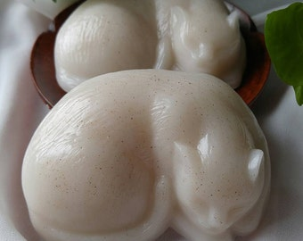 Shea Butter Almond Cat Soap -Vegan-