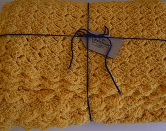 Handmade Crochet Twin Bed Cover Afghan Blanket
