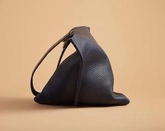 16in Wedge - Indigo blue leather