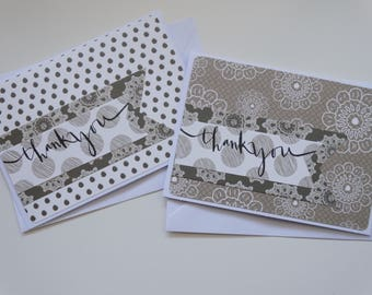 Thank You, Set of 2 A6 Cards