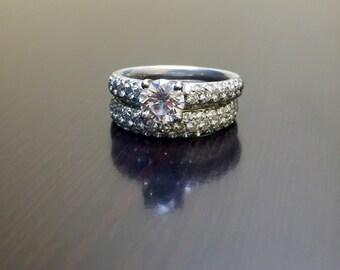 GIA Diamond Engagement Ring - Diamond Wedding Ring - Platinum Engagement Ring - Platinum Ring - Diamond Ring - Platinum Band - Diamond Band