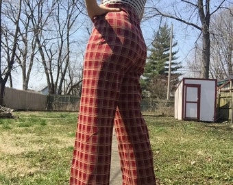 Super groovy 70s polyester pants.