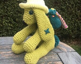 Crochet Bunny/Crochet Rabbit/Plush Bunny Rabbit/Plush Rabbit/Green Bunny/Nursery Decor/Baby Shower